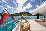 Lili yacht upper aft deck