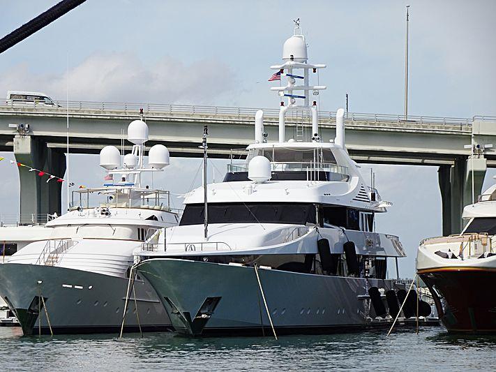 Kisses yacht in Miami Island Gardens