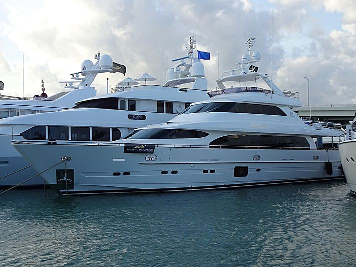Rebeca yacht in Miami Island Gardens