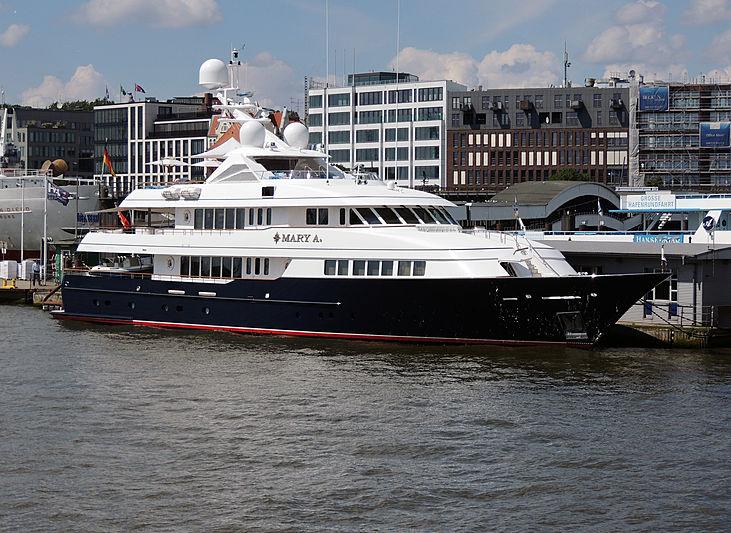 Mary A yacht by Feadship in Hamburg