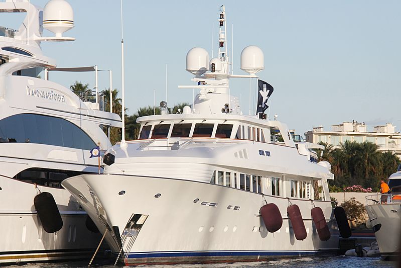 Our Toy yacht at the Cannes Yachting Festival