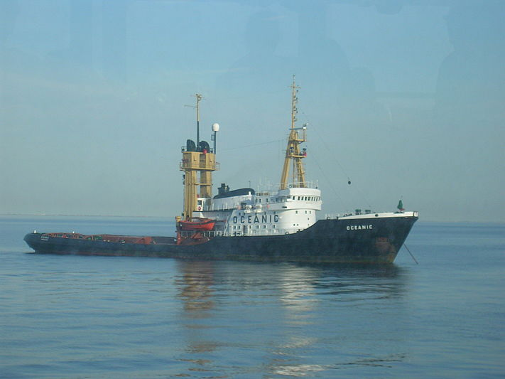 Oceanic tug anchored