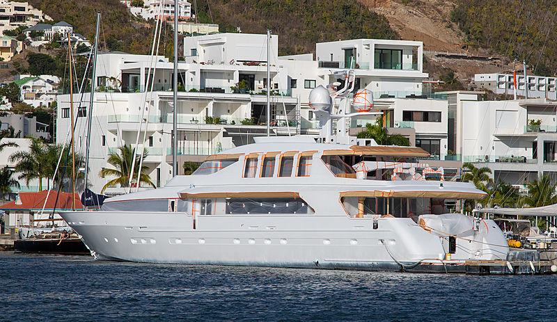 Surina yacht in Simpsons Bay, St. Maarten