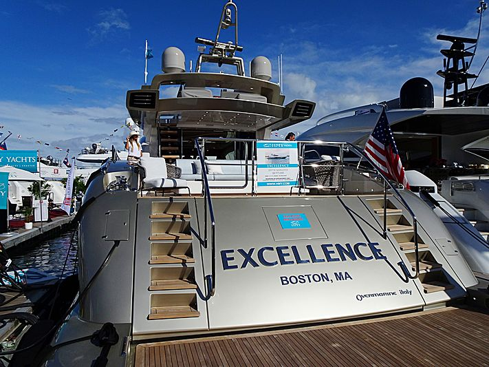Excellence yacht in Miami Beach