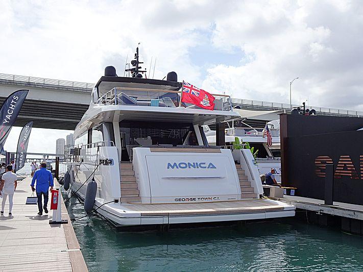 Monica yacht in Miami Beach