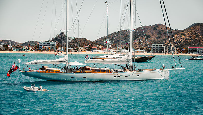Elfje sailing yacht by Royal Huisman in St Maarten