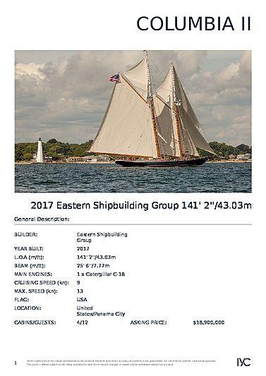 COLUMBIA II yacht Eastern Shipbuilding Group