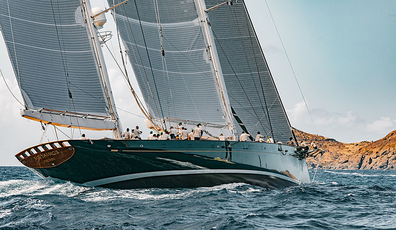 Hetairos sailing yacht by Baltic Yachts in St Barths
