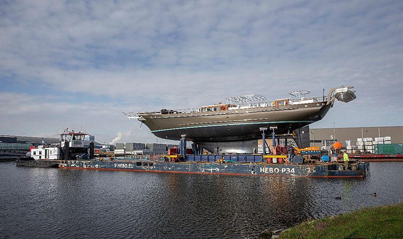 Reesle yacht launch after refit in Zaandaam
