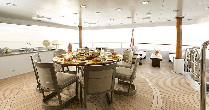 La Dea II yacht deck