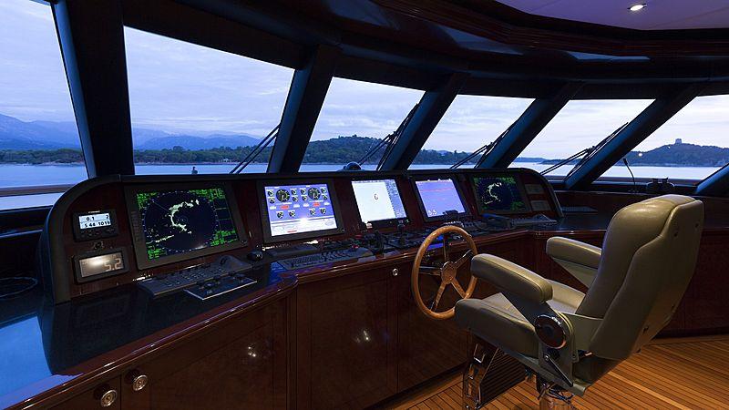 La Dea II yacht bridge