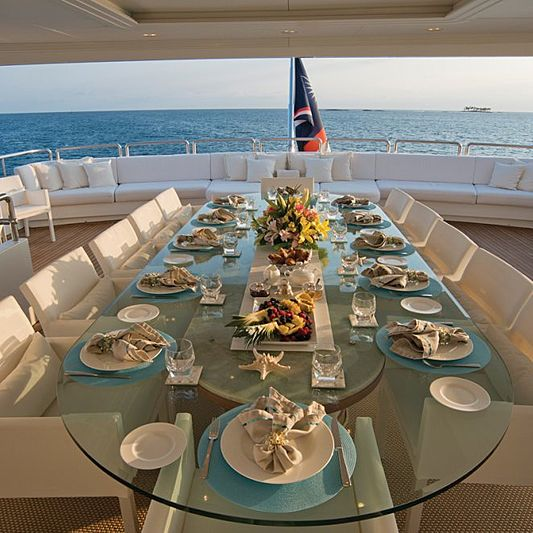 Lumiere yacht deck dining