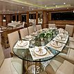 Lumiere yacht dining room