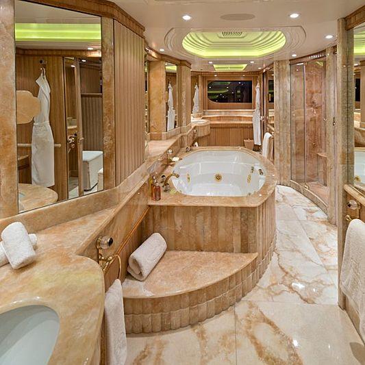 Lumiere yacht bathroom