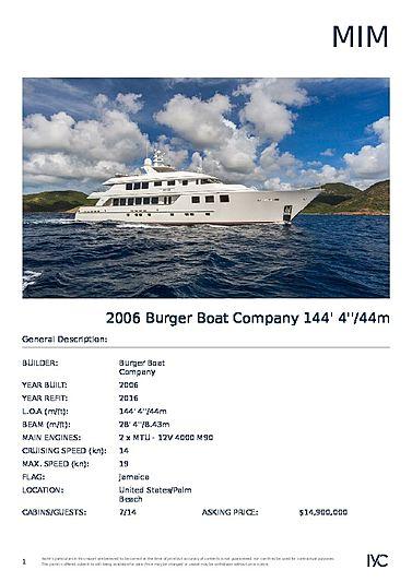 Mim yacht brochure