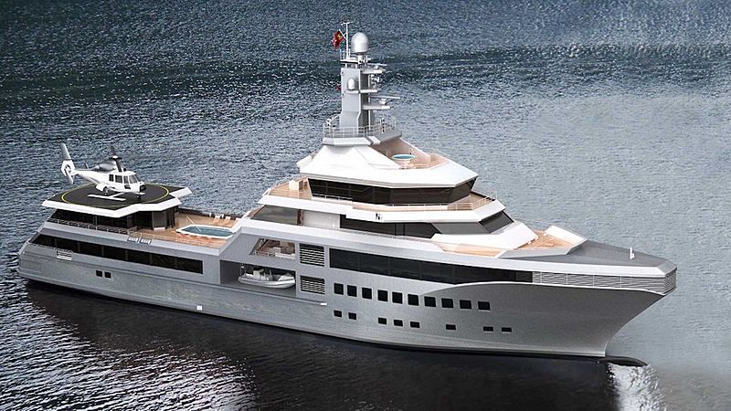 PJ World yacht exterior render