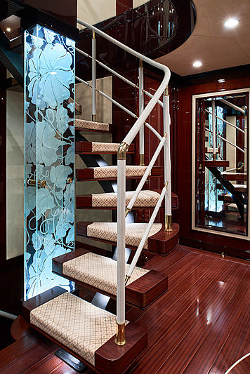 Reve d'Or yacht staircase
