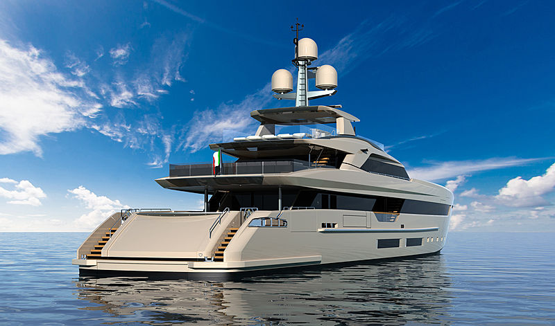 Tankoa S502 Elettra yacht exterior design