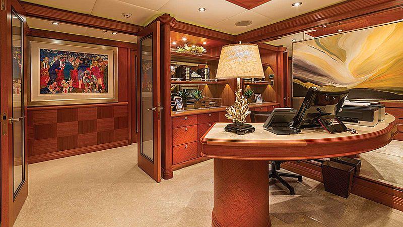 Skyfall yacht study room