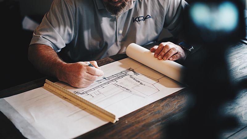 Designer designing