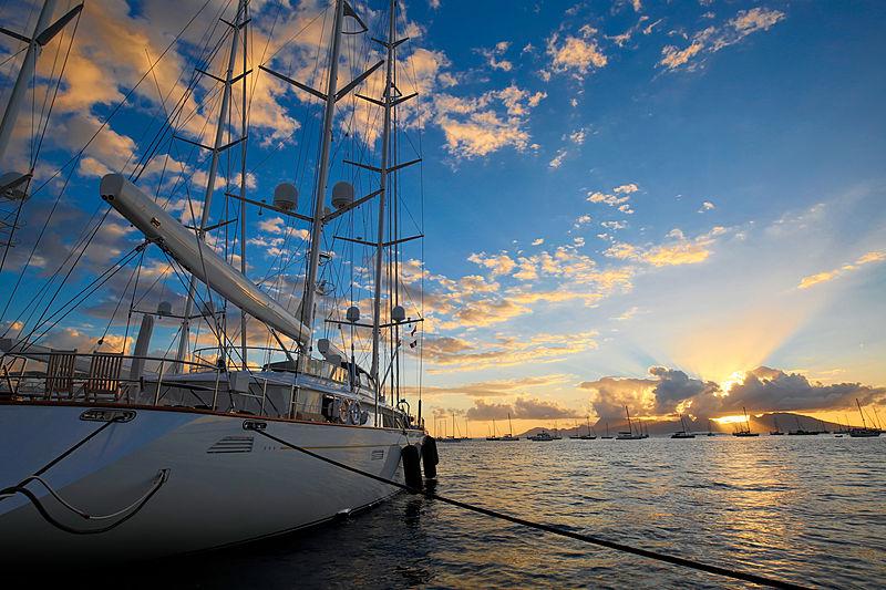 Rosehearty yacht anchored