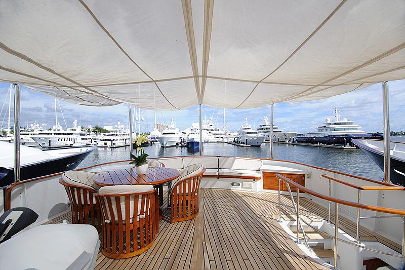 Avante V yacht deck