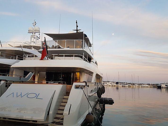 Awol yacht in marina