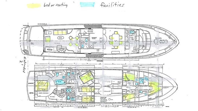 Blue Star yacht layout