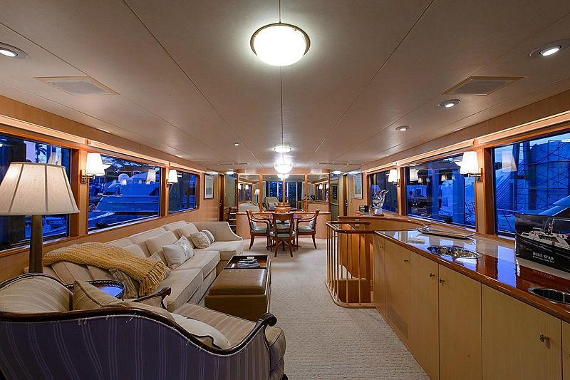 Blue Star yacht saloon