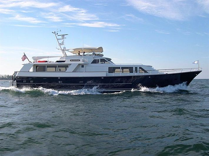 Blue Star yacht cruising