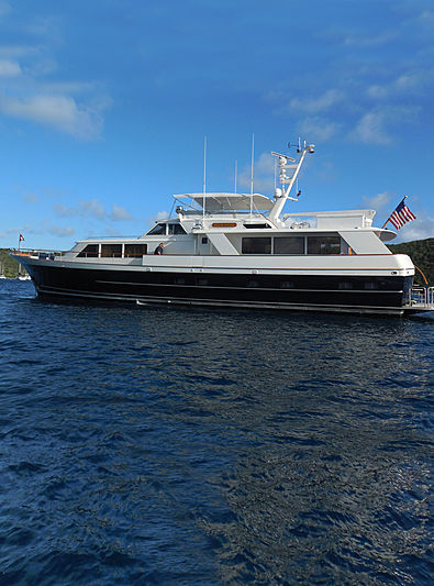 Blue Star yacht anchored