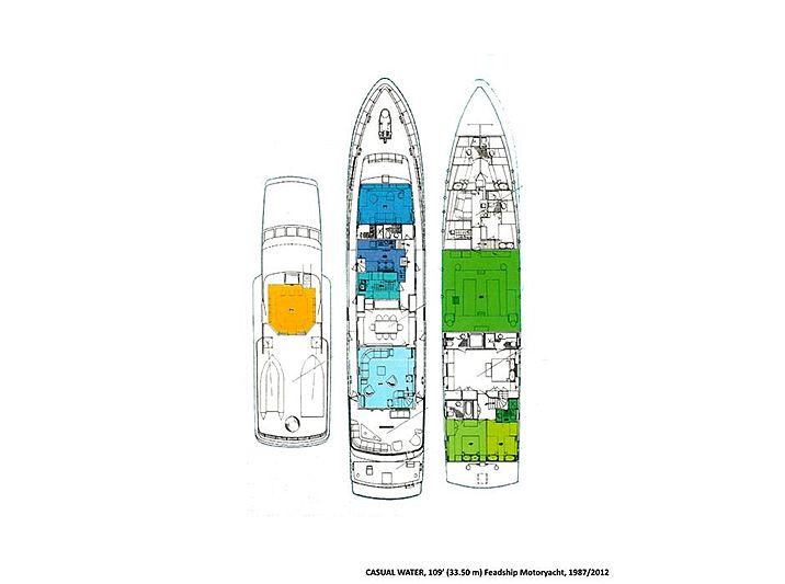 Casual Water yacht layout