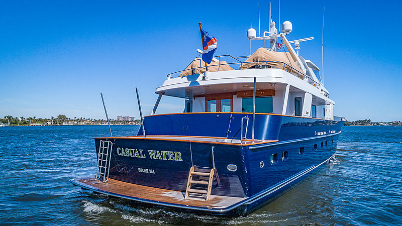 Casual Water yacht anchored