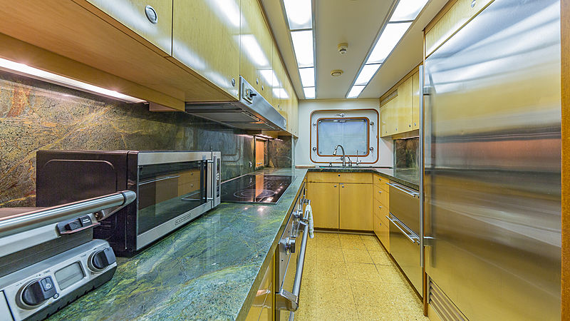 Casual Water yacht kitchen