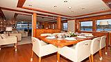 Ira yacht dining room