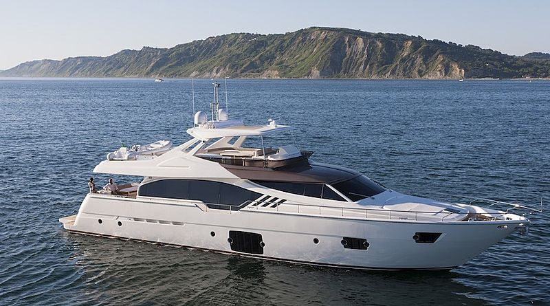 Mirabilis yacht anchored