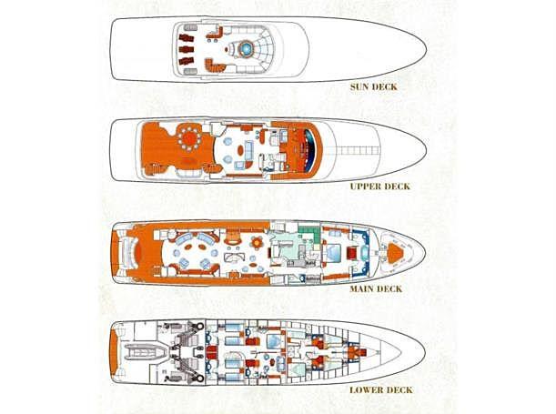Siete yacht layout