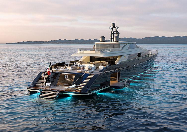 Perini Navi Argonaut motor yacht 83m exterior