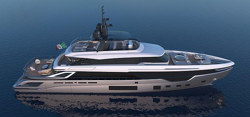 Azimut Grande 38 Metri exterior design