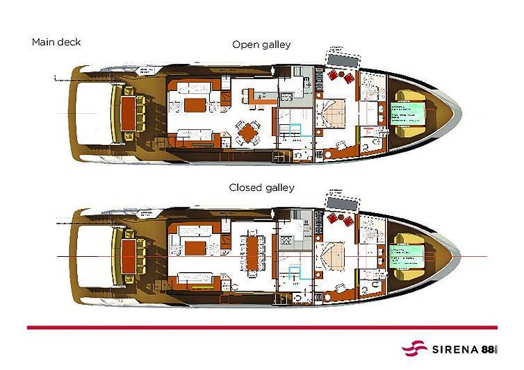 Sirena 88RPH yacht layout