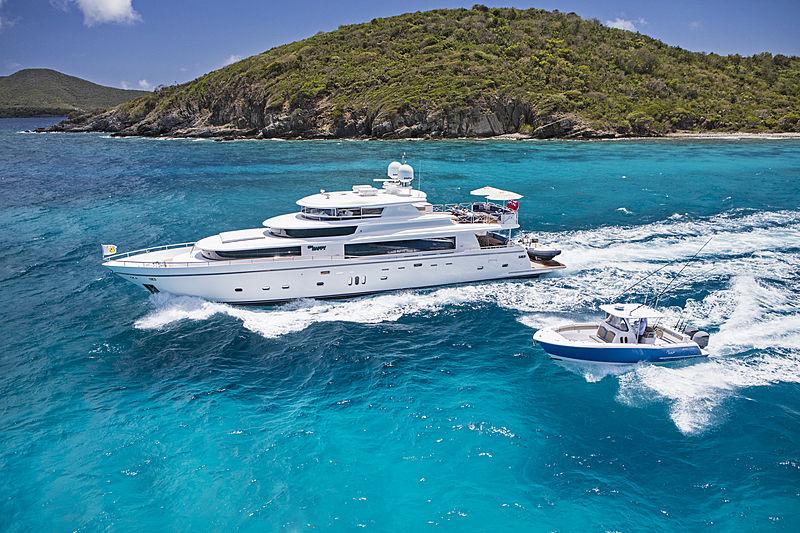 Mrs Happy yacht cruising