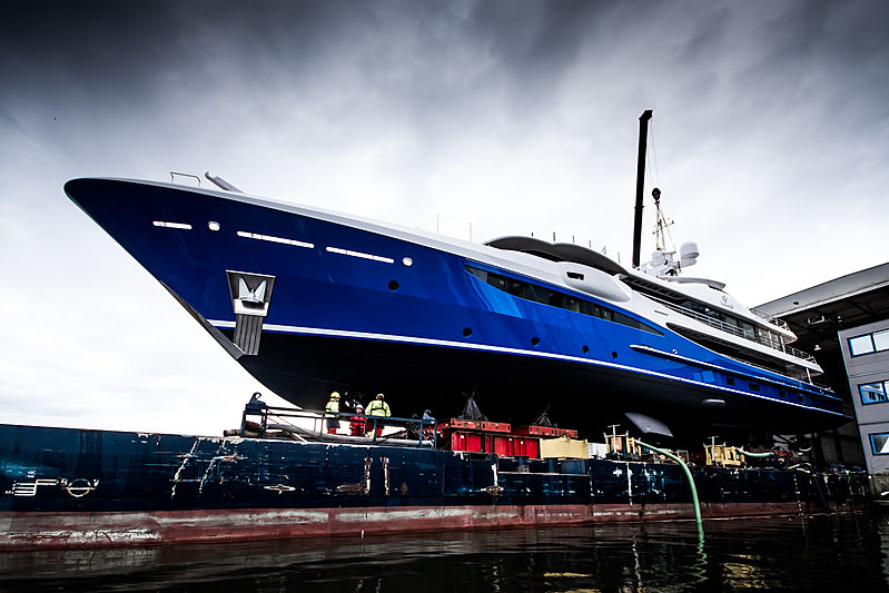 Nomad yacht launch at Amels