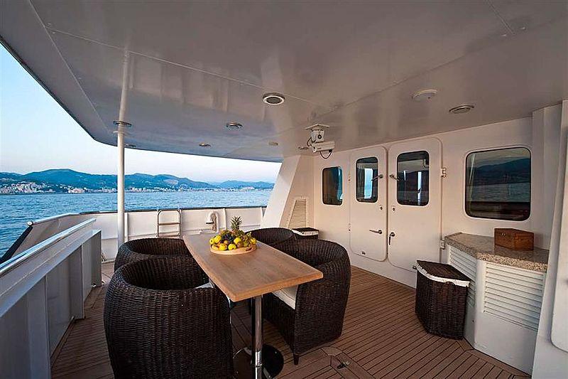 Beleza of London yacht main aft deck