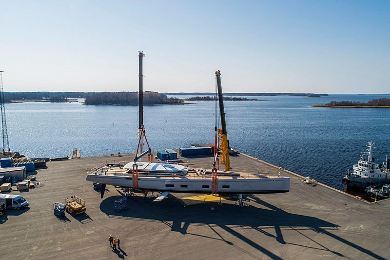 Sailing yacht Canova by Baltic Yachts pre launch