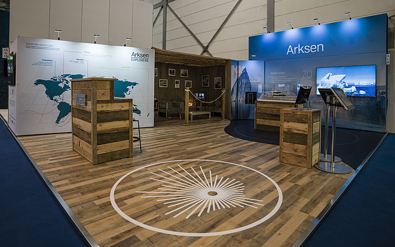 The Arksen stand at Boot Dusseldorf