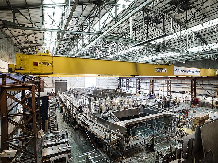 Arksen 85 in build at Wight Shipyard