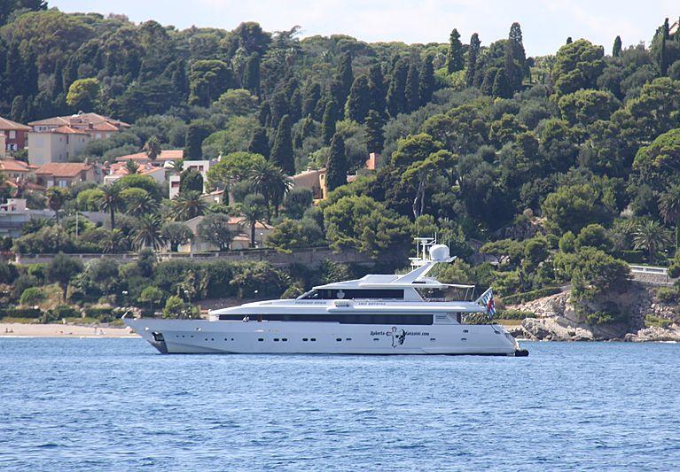 Indigo Star yacht off St. Jean-Cap-Ferrat