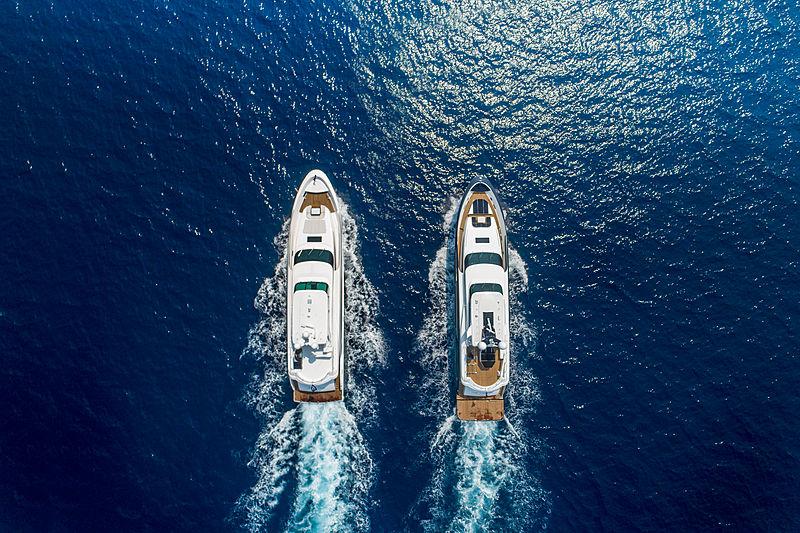 Wild Duck and The Legion yacht cruising