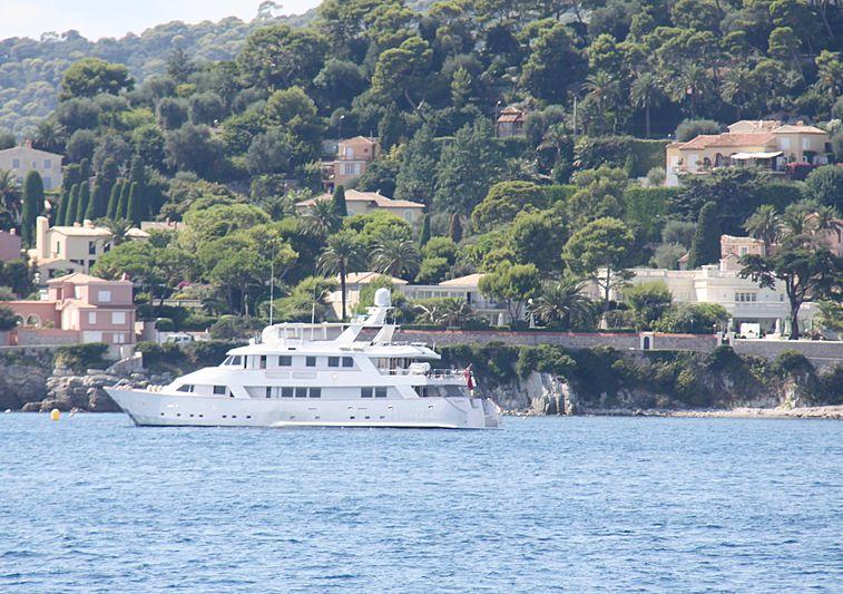 Superfun yacht off Saint-Jean-Cap-Ferrat