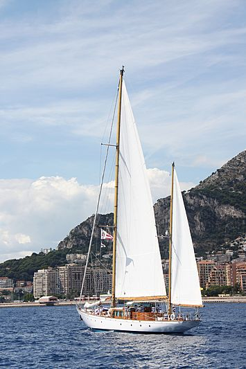 Wayfarer of London yacht off Monaco